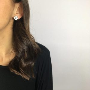 black and white stud earrings