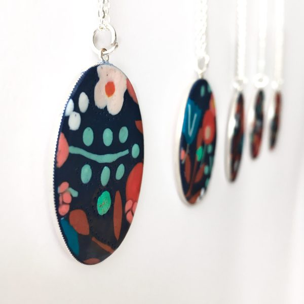 Polymer clay pendant by nadege honey