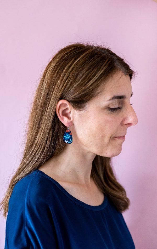 Flora polymer earrings by nadege honey