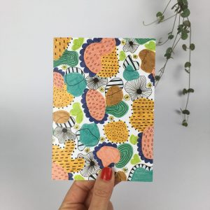Colourful greeting card by nadege honey