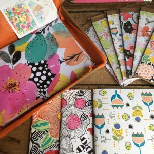colourful stationary gift box by nadege honey