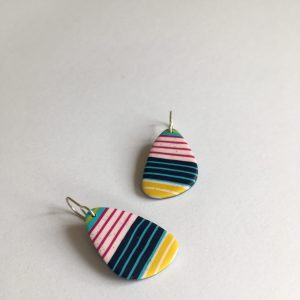 colourful polymer clay earrings by nadege honey