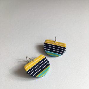 colourful breton clay earrings by nadege honey