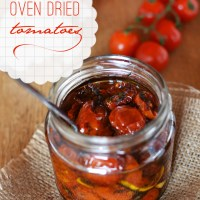 Flavour concentration - Oven dried cocktail tomatoes
