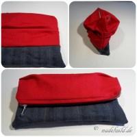 Reißverschlusstasche mit Falten