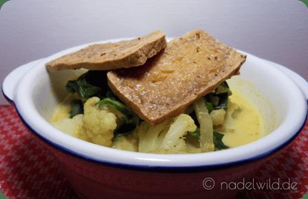 Mangold Blumenkohl Curry