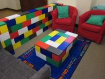 "Table with ""Lego"" Bricks"