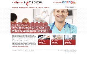 Terrain Biomedical Web Site Home Page