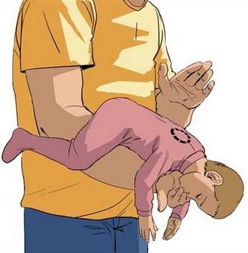 Извлечение инородного тела у младенца