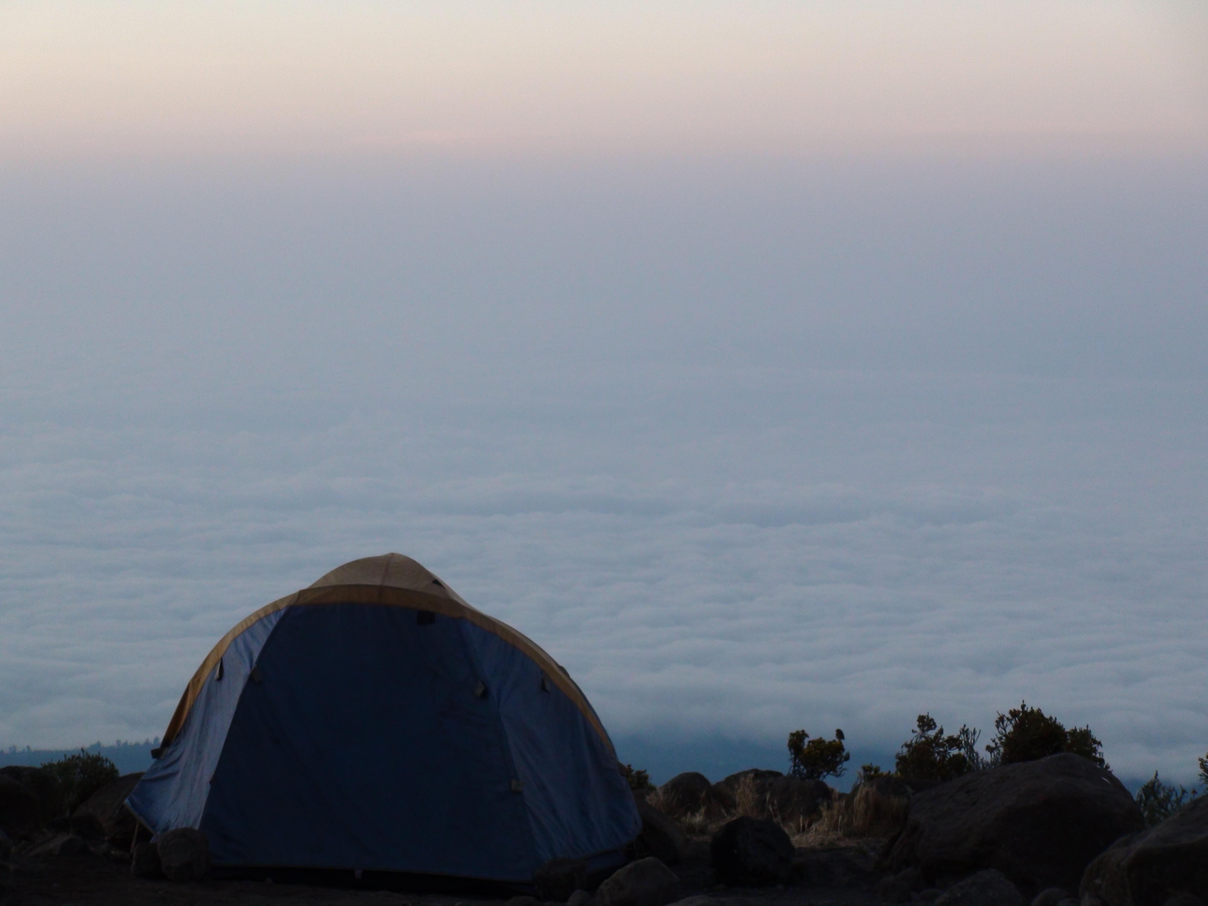 Horombo at sunset