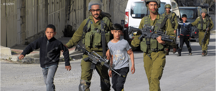 Palestinians abduct Settler youth/soldiers secretly ...Israelis abduct Palestinian Children in Uniform and Publicly
