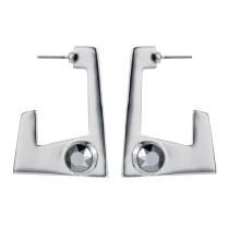 Geo earrings silver/chrome