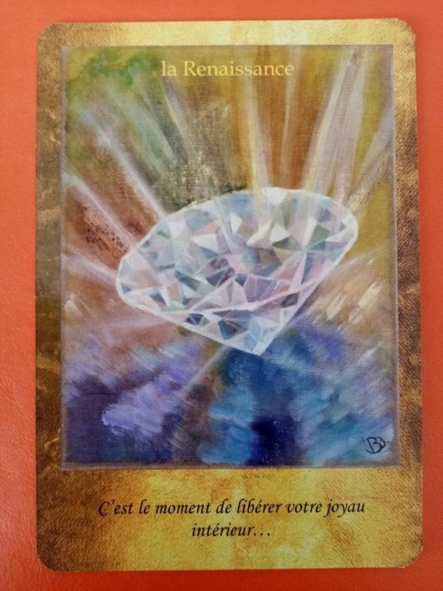 """Lecture de la carte oracle """"la Renaissance"""" issue du jeu de carte """"les portes de l'intuition"""" de Vanessa Mielczareck"""