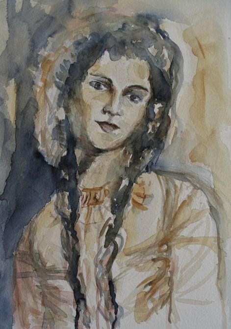 junge-frau-aquarell-nadia-baumgart