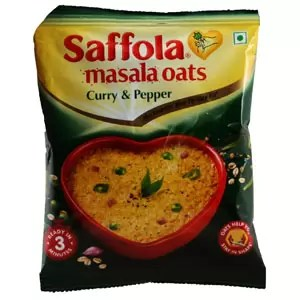 Saffola Masala Oats Curry and Pepper 40g Pouch