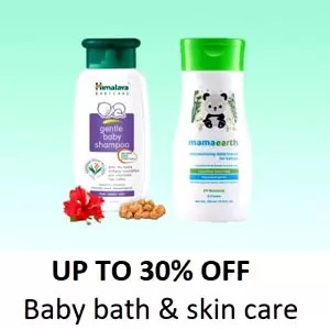 Up to 30% off Baby Bath and Skin care - Offer and Discount In Amazon