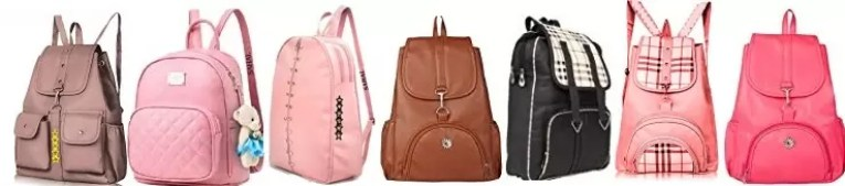 Women Leather Backpack Casual Bag