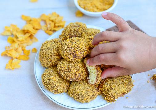 Maizenakoekjes met cornflakes