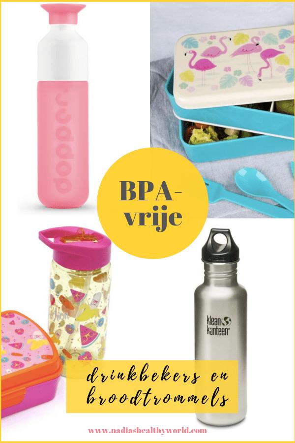 BPA-vrije drinkbekers en broodtrommels
