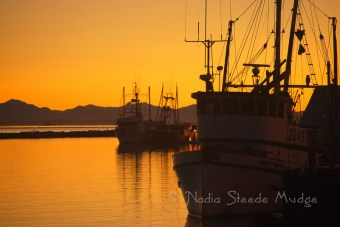 #058 Sunset over Fish boats