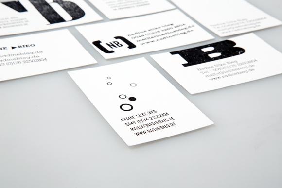 Visitenkarten - Detail - Nadine Bieg - Design - Braunschweig - Letterpress - Branding