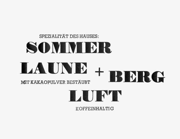 Sommerlaune - Formfleischvorderschinken - Poesie - Handsatz
