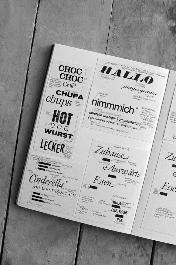 Skizzenbuch - Formfleischvorderschinken - Poesie - Handsatz