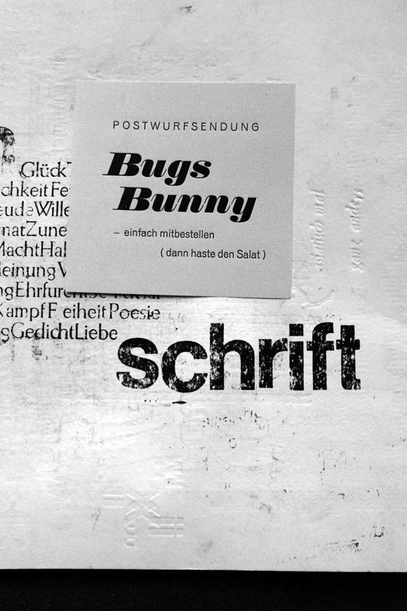 Schrift - Formfleischvorderschinken - Poesie - Handsatz
