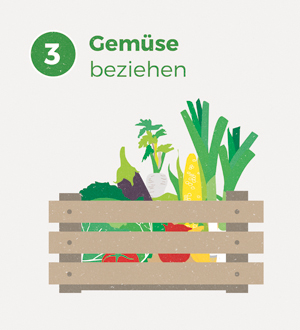 Wir Garten Illustration Gemüsekiste