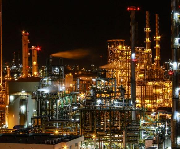 3. bigstock-Night-scene-of-chemical-plant-37627720
