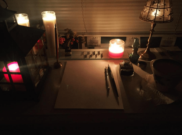 Writing-By-Candlelight