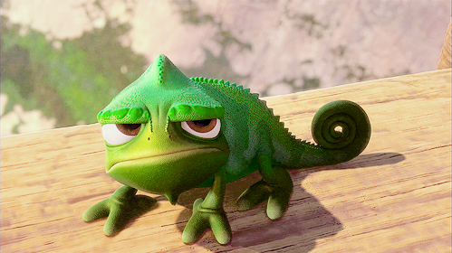 Tangled-Pascal-not-impressed