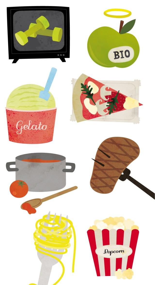 Illustrationen Ernährungslügen