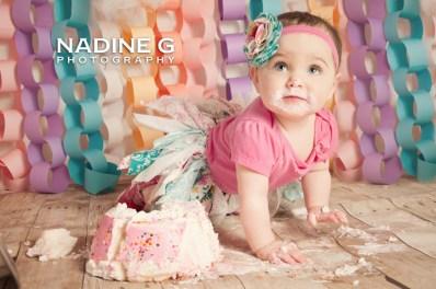 North Atlanta Smash Cake Photographer; Nadine G Photography