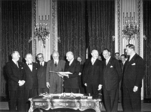 Signature of the ECSC Treaty