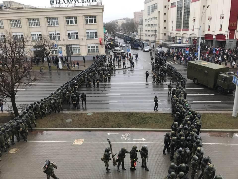 Schockzustand: Festnahmen in Belarus am Wochenende