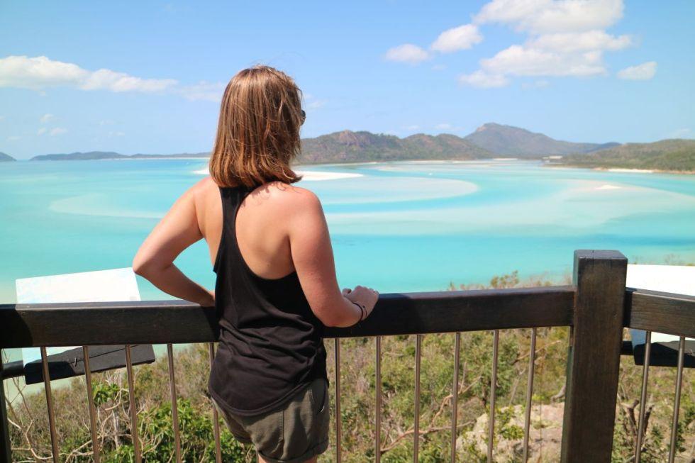 Nadine Blick auf Whiteha Beach
