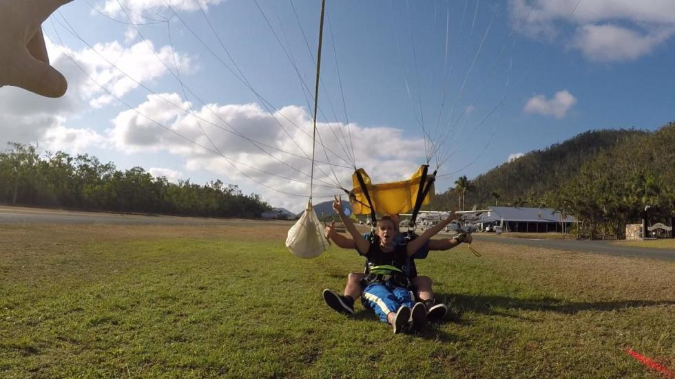 Die Landung am Airport nach dem Skydive