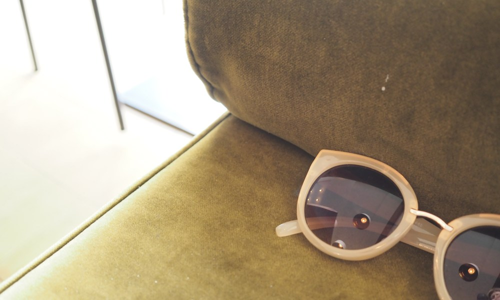 Fashion memories sun glasses on couch