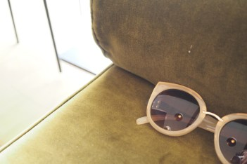 self-assignment Fashion memories sun glasses on couch