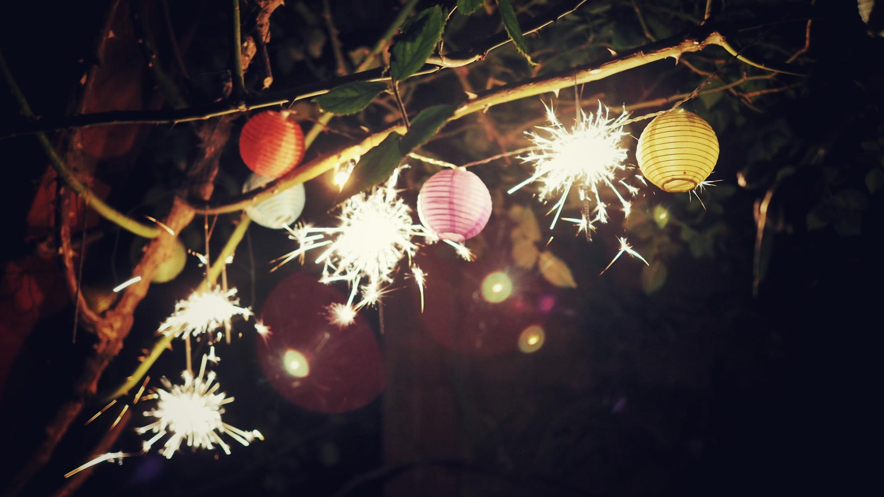 New Year lights celebration
