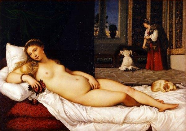 Venus de Urbino, por Tiziano