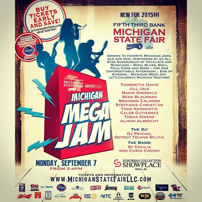 HOT LABOR DAY AFTERNOON AT THE MICHIGAN STATE FAIR! MONDAY, SEPTEMBER 7 @2PM 46100 Grand River Ave, Novi, MI 48374 #mimegajam2015 #mistatefair #metrotimes #saintcecilia #djpsycho #calebgutierrez #alisonalbrecht #familyfun #rollercoaster #farmanimals #beautifulpeople #puremichigan