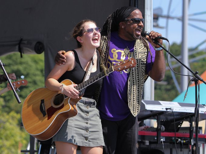 Alison Albrect and Nadir Omowale at Michigan Mega Jam