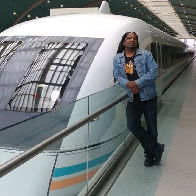 Just got off the Maglev (magnetic levitation) bullet train. 2nd fastest train on the planet. It reaches a top speed of 431km/hr. 31km in 8 minutes... #ShanghaiIsTheFuture