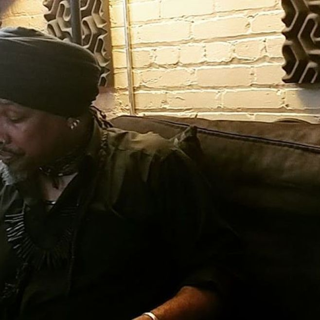 A moment of reflection... Kalonji Mayassa of @blackmailtheband in the lab at EkoBase Media. We're sculpting, shaping, molding and polishing the new Blackmail album. It's all about the process...