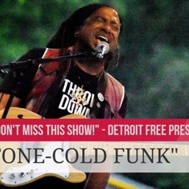 "The Detroit Free Press says, ""DON'T MISS THIS SHOW! Nadir Omowale and his top-notch ensemble make STONE-COLD FUNK, furiously stirring together piquant flavors of everything from Parliament to Prince."" GET SOME!ARTS, BEATS & EATSSUNDAY 2PSoaring Eagle Rock Stage@simonewinterexperience @cdspooner1 @steveongtr @laurenjohnsonmusic @artsbeatseatsroyaloak"