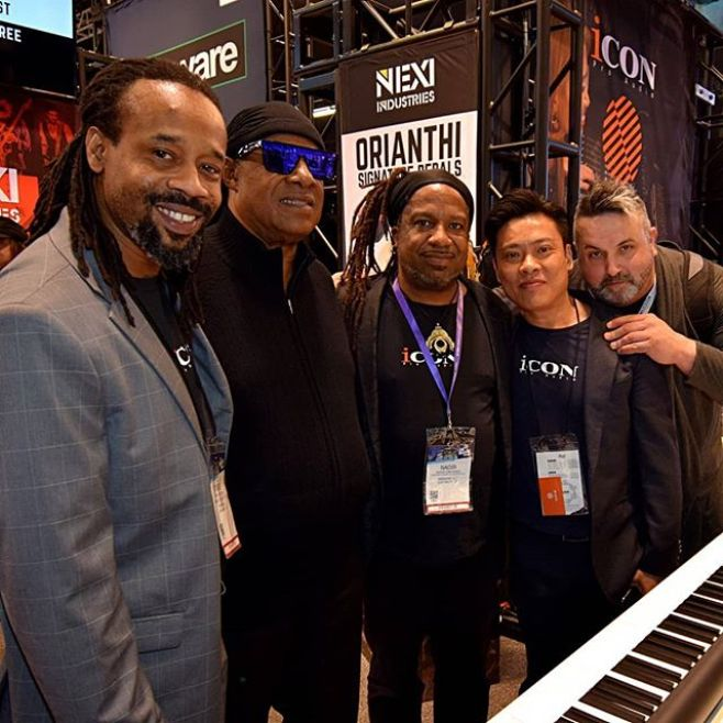 Hanging with the Master Blaster at #NAMM. The @iconproaudio team had a beautiful show. 2019 will be a tremendous year! Congratulations on a Wonderful job!