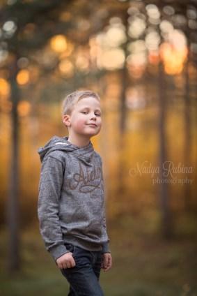 Fall Portrait of a Boy