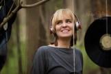 woman portrait in headphones